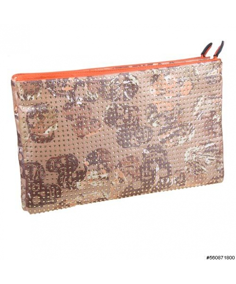 Shimmering Skull Studded Double Compartment Bag