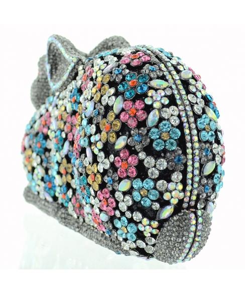 Crystal-Embellished Rabit, Stripe