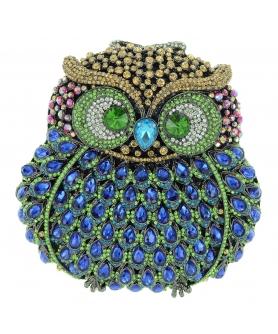 Crystal-Embellished Owl E, Stripe