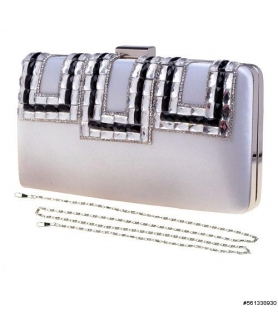 Crystals Satin Clutch