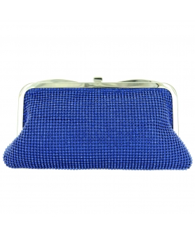Double Side Mesh Crystal Clutch