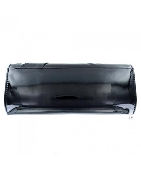 Elegant LiquidShine Vegan Patent Leather Clutch