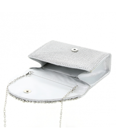 Crystal Mesh Clutch