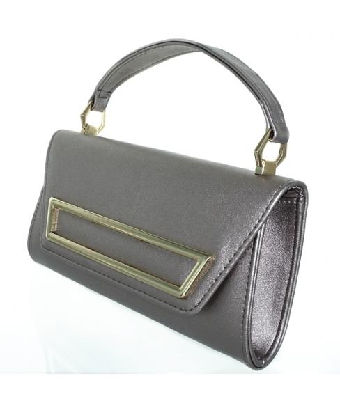 Elegant Feminine Top Handle Faux Leather Clutch