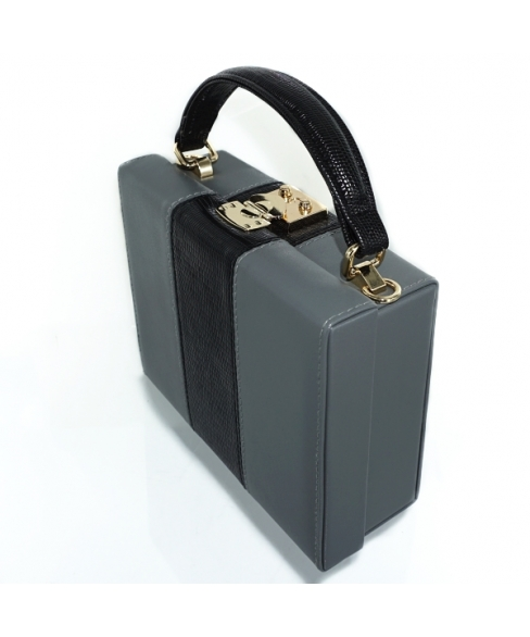 Colorblock Box Clutch