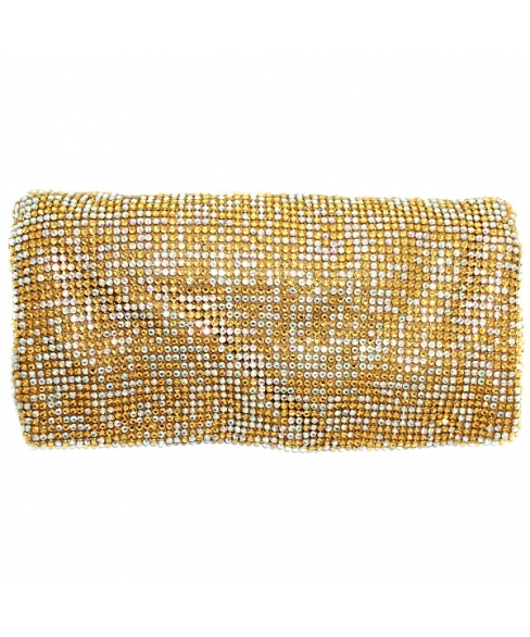 Sparkling Crystal Foldover Soft Pouch