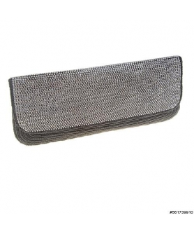 Lavish Shimmers Beaded Crystal Embroidered Clutch