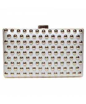 Studded Faux Leather Clutch