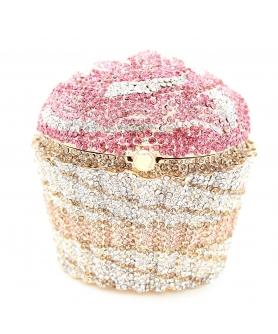 Crystal-Embellished Cupcake Evening Clutch