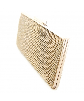 Crystal Mesh Frame Clutch
