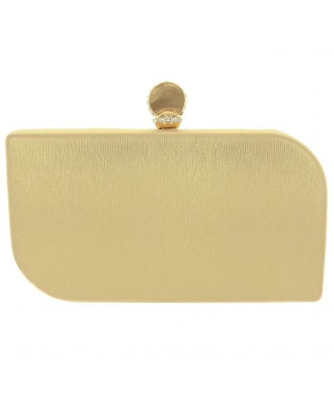 Crystal-encrusted Clasp Tops Glitter Clutch