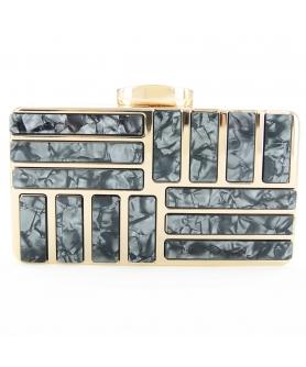 Marble Cut Acrylic Clutch
