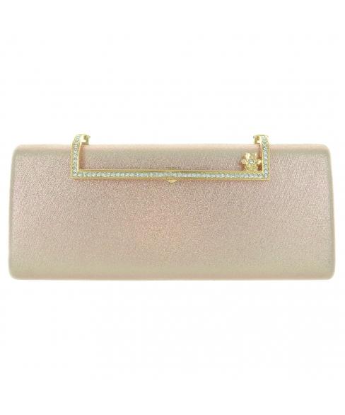 Glitter Metallic Box Clutch