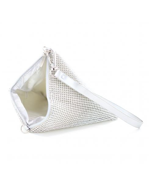 Pyramid Rhinestone Wristlet Clutch