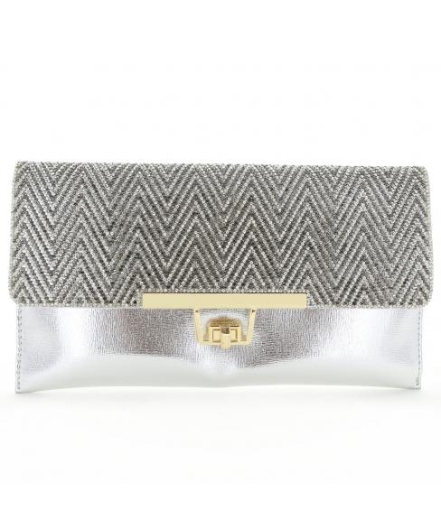 Women Rhinestone Crystal Envelope Clutch Bag