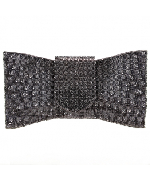 Crystal-Embellished Bow C, White