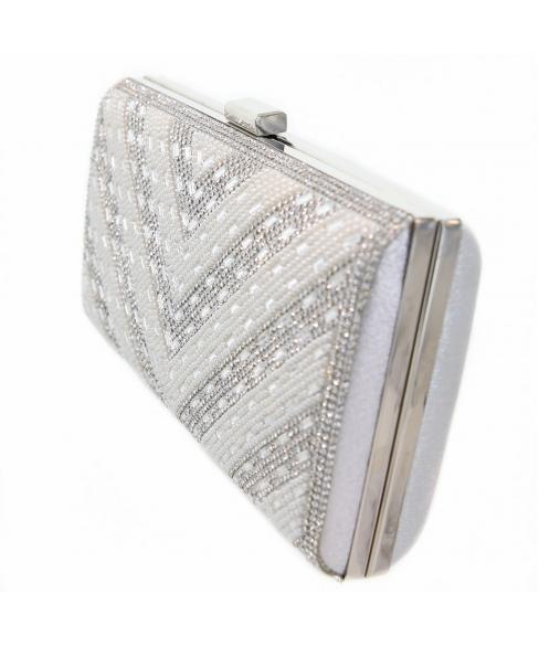 Crystal & Pearl Embellished Clutch