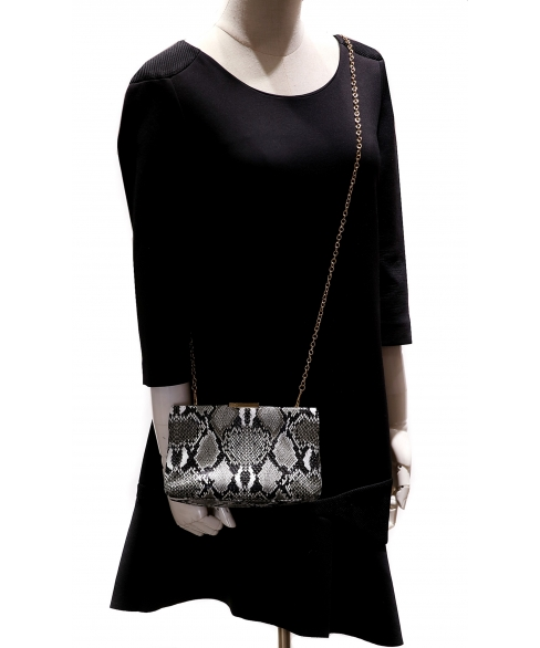 Python Embossed Clutch