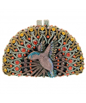 Crystal Embellished Hummingbird Evening Clutch
