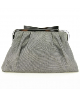 Bow Top Glitter Metallic Clutch/Evening Bag