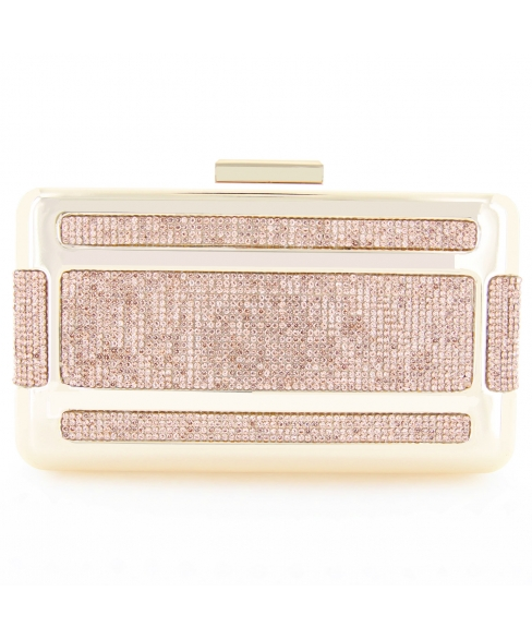 Crystal-Embellished Frame Clutch