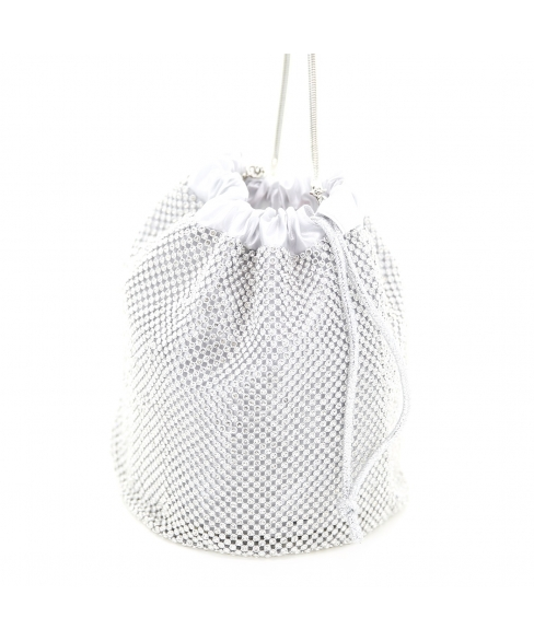 Rhinestone Drawstring Bucket Bag