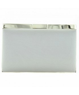 Chic Satin Frame Clutch