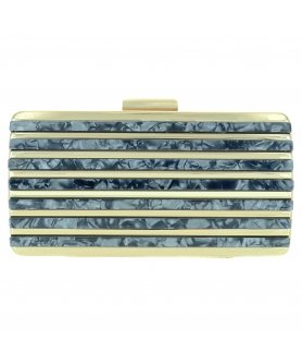 Marble Cut Acrylic Clutch, RED
