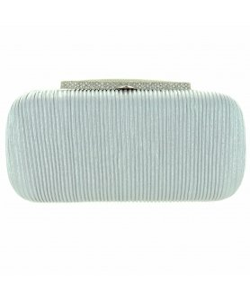 Glitter Metallic Crystal Top Box Clutch